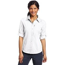 Columbia Women's Silver Ridge Long Sleeve Shirt, Large, White
