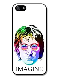 John Lennon The Beatles Imagine Multicolour Portrait Illustration case for iPhone 5 5S