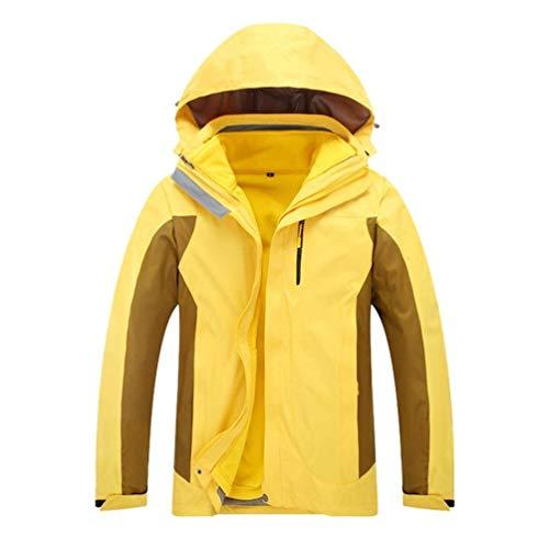 Giacca Impacchettabile Giacche Foderato Yellow Invernali Large In Pile Viaggio colore Fuweiencore Dimensione men Impermeabile Unisex Antivento Da Esterna qd4x8Rw