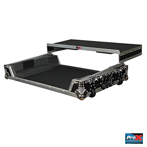 Numark NS7II and NS7III Digital Controller ProX Flight Case with Wheels & Laptop Shelf (Controller Flight Case)