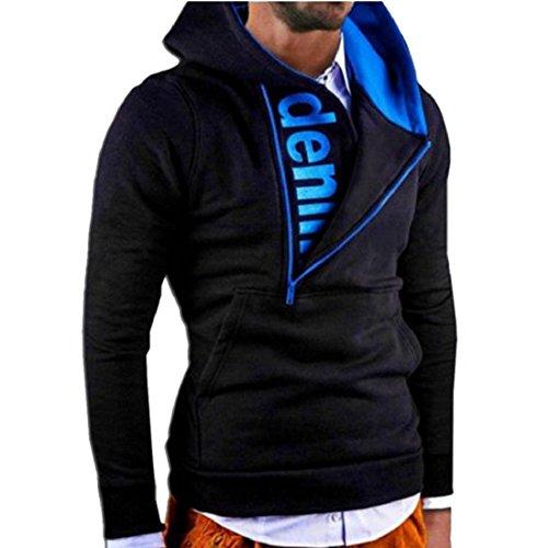 GONKOMA Mens Long Sleeve Hoodie Pullover Letter Printed Hooded Sweatshirt Causual Sport Tops