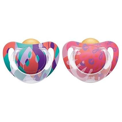Chupete NUK Genius Color Caucho 2 piezas 6 - 18 M Rosa ...