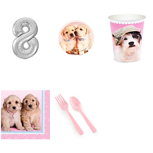 - Rachael Hale Glamour Dogs 8th Birthday Party Supplies Pack for 16
