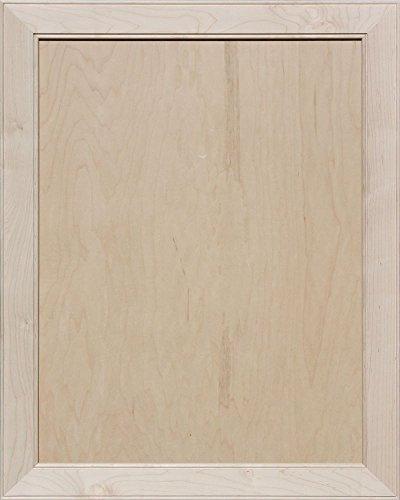 Flat Panel Cabinet Doors (Unfinished Maple Mitered Flat Panel Cabinet Door by Kendor, 30H x 24W)