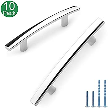 "10 Pack Sleek Square 3/"" Chrome Kitchen Cabinet Drawer Door Handle Pull P70176CH"