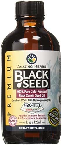 Amazing Herbs Premium Black Seed Oil, 4 Fluid Ounce