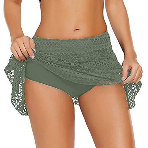 (Little Story ❃ Swimsuit Women's Lace Crochet Skirted Bikini Bottom Swimsuit Short Skort Swim Skirt)