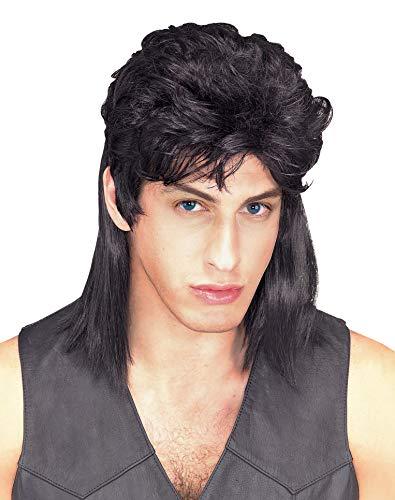 Rubie's Humor Black Mullet Shoulder Length Wig,