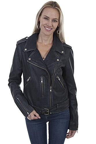 Lara Lea Leather & More, LLC Belted Motorcycle Jacket - XXL, Black