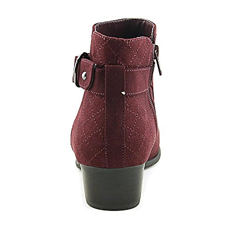 Unisa Dark Ankle Toe fabric Boots red Suede Womens Fashion piera Closed HwqrnPHO