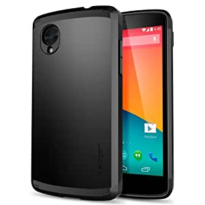 Nexus 5 Case, Spigen® [Slim Armor] AIR CUSHION [Smooth Black] Air Cushioned Protective Case with Dual Layer for Nexus 5 - Smooth Black (SGP10569)