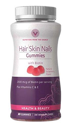 Hair Skin Nails Gummies with Biotin 80 Gummies
