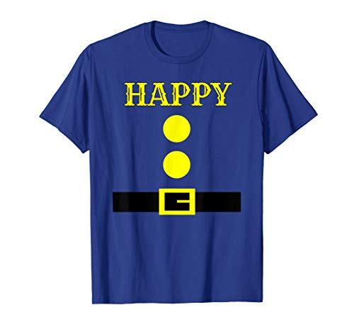 7 Dwarfs Halloween Costume Ideas (Dwarf Costume T-Shirt - Funny Halloween Gift Idea - Happy)