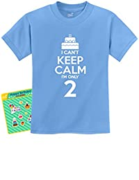 2nd Birthday Cake - I Can't Keep Calm I'm Two Boy Girl Funny Kids T-Shirt