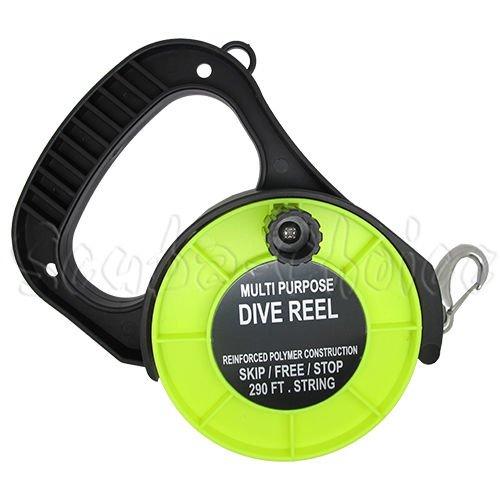 (Scuba Choice Scuba Diving Multi Purpose Dive Reel, 290', Yellow)