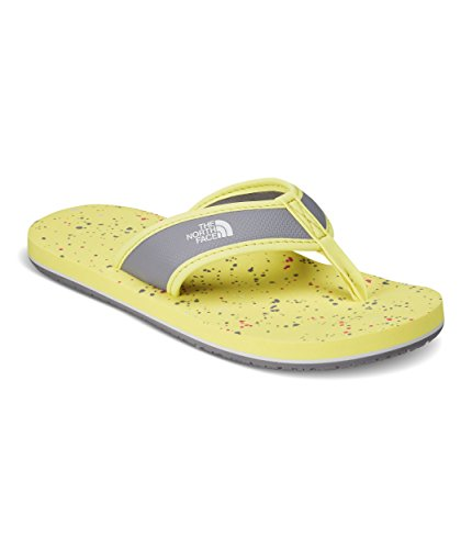 The North Face Youth Base Camp Flip-Flops Yellow Pear & Minimal Grey - Pears Big Three