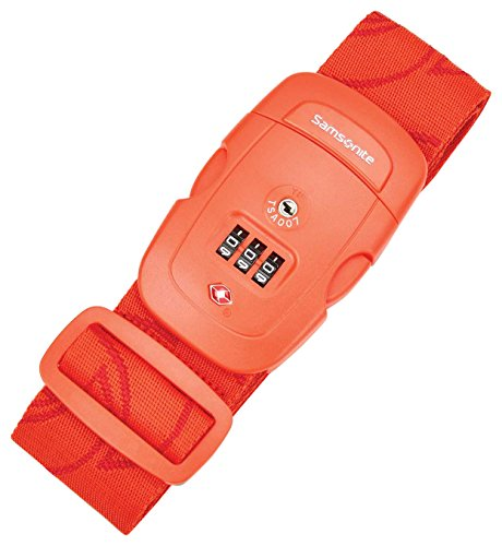 Samsonite Travel Sentry 3-Dial Combination Luggage Strap, Varsity Red