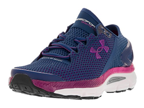 Under Armour Women's UA Speedform Gemini 2.1 Heron/White/Purple Lights Sneaker 5.5 B (M)