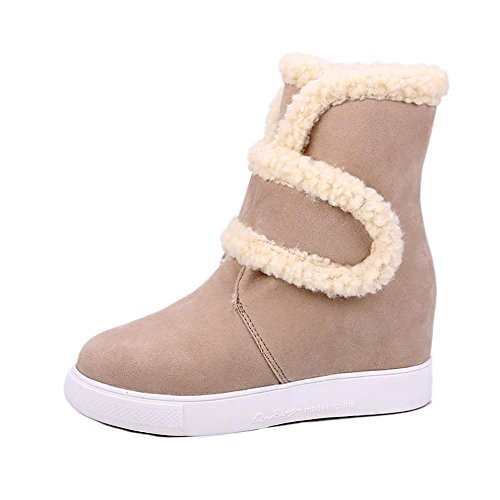 SHANGXIAN Boots Snow Boots Zapatos de mujer Winter Warm Fur Boots Botines Snow Boots Yellow
