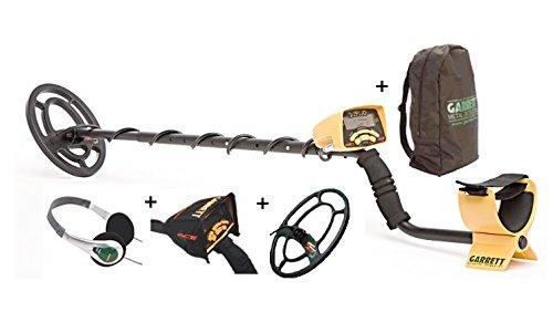 Garrett - Lote con detector de metales ACE 250, auriculares, disco de 22 x