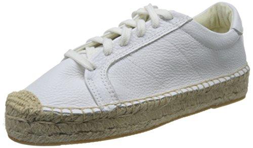 Soludos Women's Platform Tennis Fashion Sneaker White Leather