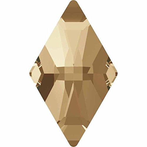 2709 Swarovski Flatback Crystals Non Hotfix Rhombus | Crystal Golden Shadow | 10x6mm - Pack of 10 | Small & Wholesale Packs by SWAROVSKI