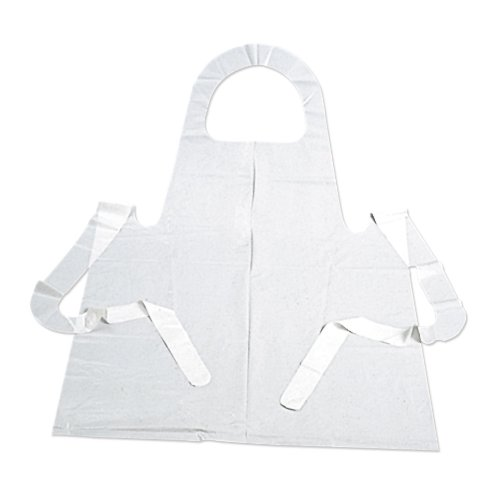 Pacon 91240 Disposable Paint Apron, Sleeveless, White Plastic, 100 Aprons per Pack