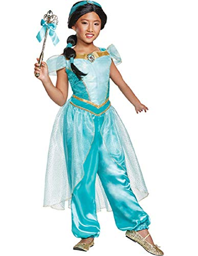 Disguise Jasmine Deluxe Child Costume, Teal, Size/(4-6x) for $<!--$27.96-->