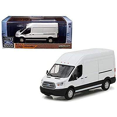 2020 Ford Transit LWB High Roof Van Oxford White 1/43 Diecast Model Car by Greenlight 86083: Toys & Games