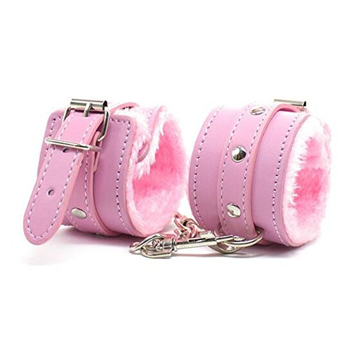 - Lsinyan Pink Leather Cuffs Hand Adjustable Plus Soft Bedroom Toy Straps for Him Or Her