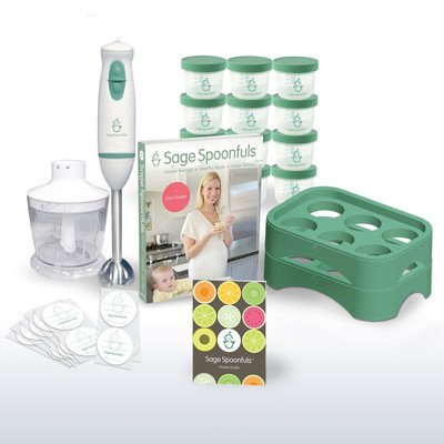 Baby Food Maker 19 Pc Starter Kit - Includes Immersion Blend