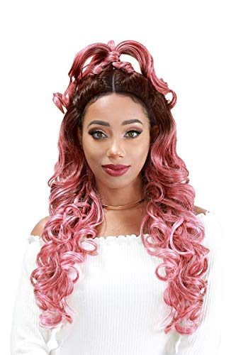 ZURY Sis Synthetic Twin Part Lace Front Beyond Wig - H BESTIE (1) (Front Lace Wig Sis Zury)