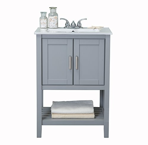 "Legion Furniture WLF6020-G Bathroom Vanity, 24"" x 18.3"" x 33.7"", Gray"