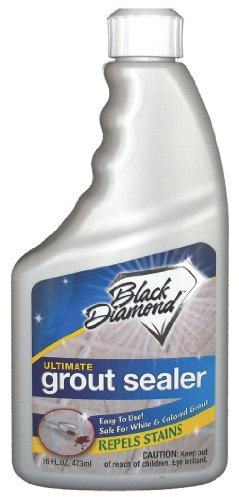 Black Diamond Ultimate Grout Sealer CASE 6 PTS – Seals Out Stains, for Ceramic, Porcelain & Marble Tile. White or Colored Grout, Sanded or Un-sanded. (16 Porcelain Tile)