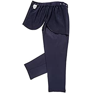 Adaptive Modesty Polyester Pants With Covered Cut-Out Seat Navy (S)