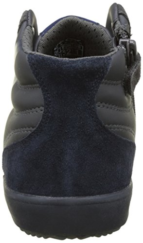 Geox Alonisso Boy A, Baskets Hautes Garçon, Bleu Marine Grau (Dk Grey/Navy)