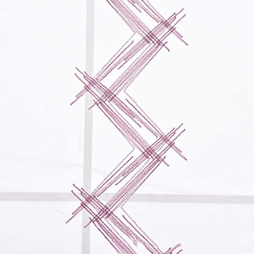 Violet, Largeur 60cm // Hauteur 120cm SIMPVALE Rideaux Romains Vague Brod/ée Voile Rideaux /à Volants Romains Rideau Transparent pour Balcon Cuisine Salon Chambre