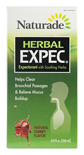 Naturade,  Herbal Expec,  Herbal Expectorant with Guaifenesin, Natural Cherry Flavor, 8.8-Ounce Bottle
