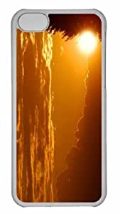 Customized iphone 5C PC Transparent Case - The Rays Of The Setting Sun Sundown Personalized Cover