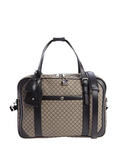 Gucci Men's Beige Ebony And Black Canvas Diamante Print Weekender 267890