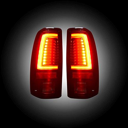 RECON 264373BK Chevy Silverado GMC Sierra 99-07 Smoked Tail Lights LED (Chevy Silverado Recon Led)