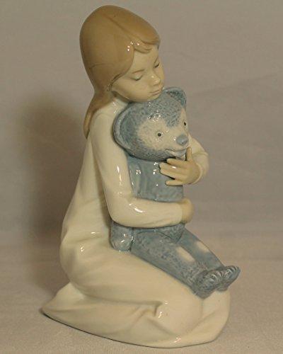 Lladro Nao Figurine, Little Girl with Teddy Bear 145