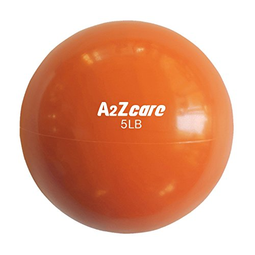 A2ZCARE Toning Ball - Soft Weighted Mini Ball/Medicine Ball (Orange (5lbs))