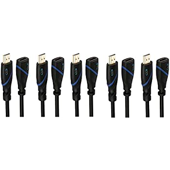 1080p and Audio Return CNE510521 1.5 FT High Speed HDMI Cable Male to Female with Ethernet Black Supports 4K 30Hz 0.4 M 1.5 Feet//0.4 Meters 3D