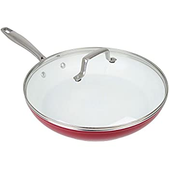 Amazon Com Oneida 12 Quot Red Forged Aluminum Non Stick