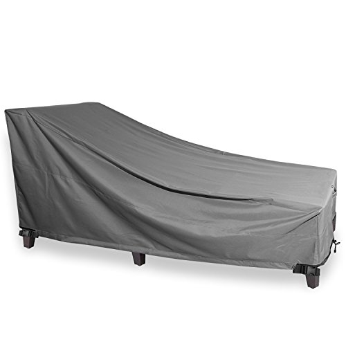 Chaise lounge cover khomo gear titan series heavy for Chaise covers outdoor furniture