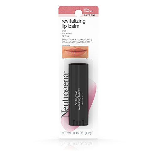 Neutrogena Revitalizing Lip Balm SPF 20, Petal Glow [40], 0.15 oz