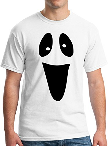 Ghost Face Silly Tee Spooky Halloween Ghoul Face Easy Costume T-Shirt M]()