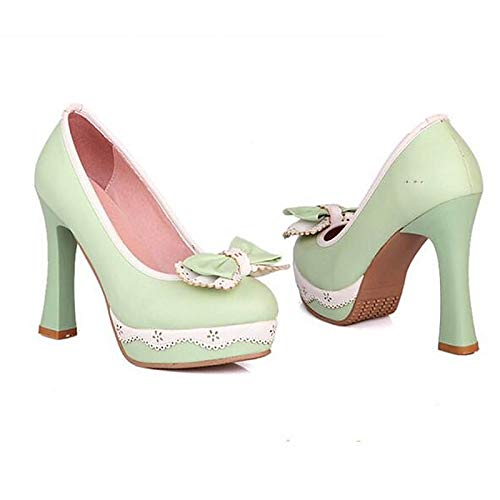 Heels Green Basic Pink Pump Shoes ZHZNVX Black Heel Polyurethane Spring PU Stiletto Green Women's xPXgwq0