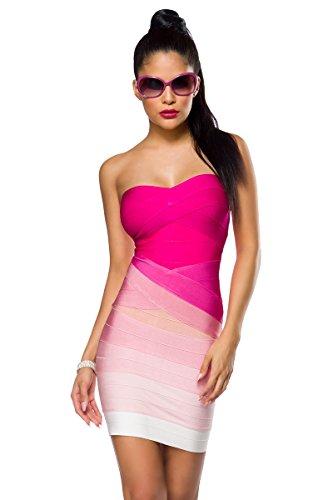 Atixo -  Vestito  - fasciante - Donna rosa Large